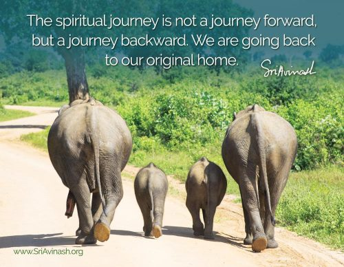 The Spiritual Journey Quote Magnet - Sri Avinash