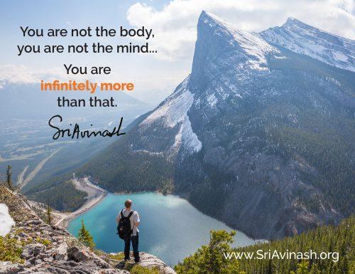 Infinitely More quote magnet - Sri Avinash