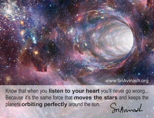 Listen to your heart quote magnet - Sri Avinash