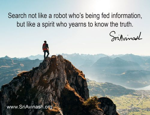 A Spirit Who Yearns to Know Truth Quote Magnet - Sri Avinash