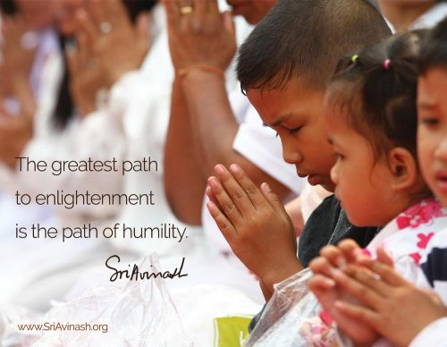 Path of humility quote magnet - Sri Avinash