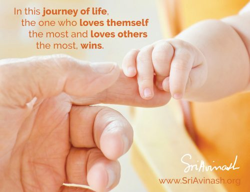 The One Who Loves The Most Quote Magnet - Sri Avinash