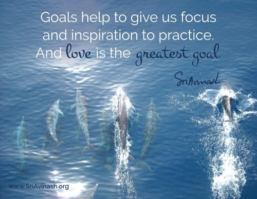 Love is the Greatest Goal Quote Magnet - Sri Avinash
