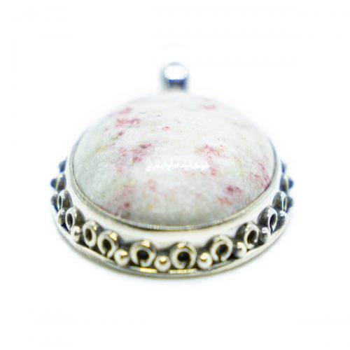 Sri Avinash Infused™ Cinnabar Pendant in Sterling Silver - Perfect Health Infusion