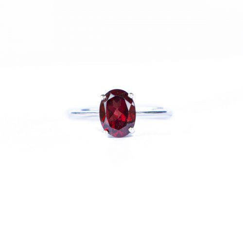 Sri Avinash Infused™ 2cts Garnet Ring in Sterling Silver - Creative Power Infusion