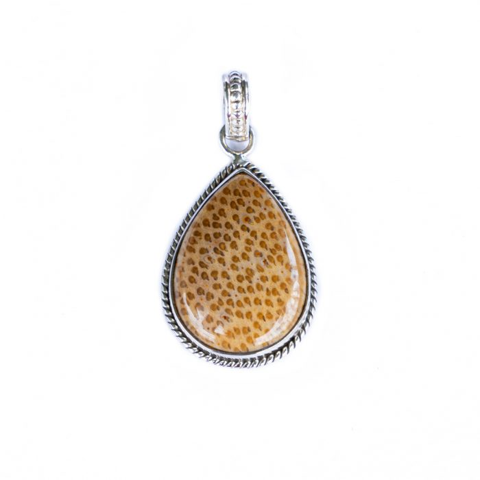 Sri Avinash Infused™ 13.1cts Plum Wood Jasper Pendant in Sterling Silver - Creative Power Infusion