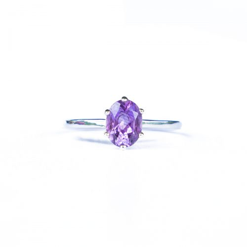 Sri Avinash Infused™ 2.5cts Amethyst Ring in Sterling Silver - Creative Power Infusion