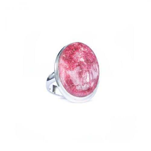 Sri Avinash Infused™ 14.9cts Thulite Ring Ring in Sterling Silver - Creative Power Infusion