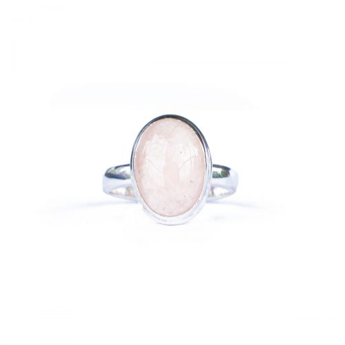 Sri Avinash Infused™ 6.2cts Morganite Ring in Sterling Silver - Creative Power Infusion