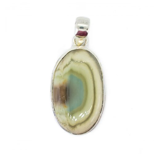 Sri Avinash Infused™ 24.3cts Imperial Jasper Pendant in Sterling Silver - Perfect Health Infusion
