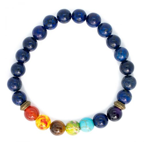 Sri Avinash Blessed™ Lapis Lazuli Quartz Chakra Mala Bracelet
