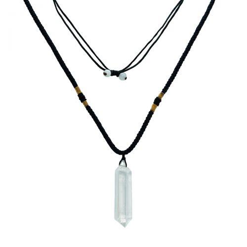 Sri Avinash Blessed™ Clear Quartz Pendulum Necklace