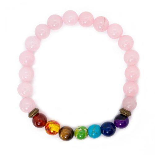 Sri Avinash Blessed™ Rose Quartz Chakra Mala Bracelet