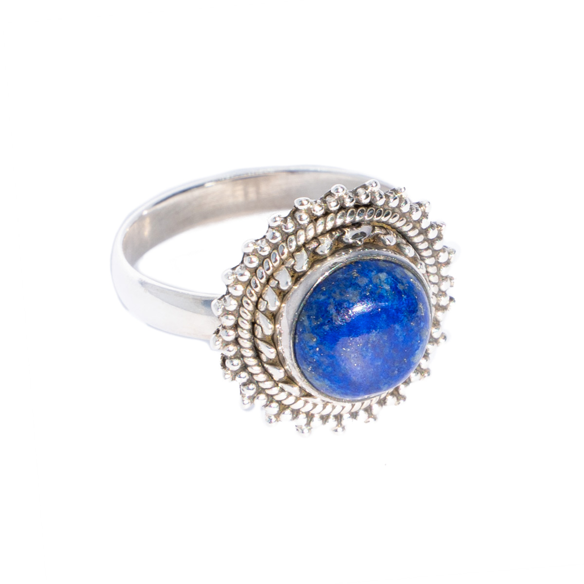 Sri Avinash Infused™ Lapis Lazuli Sundance Ring in Sterling Silver - Divine Blessings Infusion