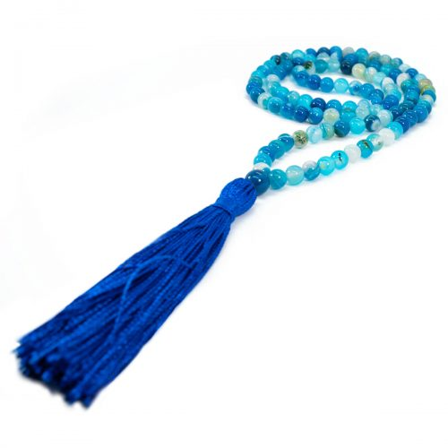 Sri Avinash Blessed™ Blue Agate Mala Necklace