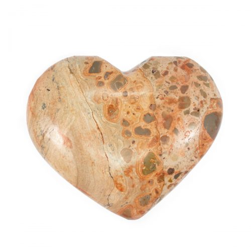 Sri Avinash Infused™ Leopardite Jasper Crystal Heart - Relationships & Prosperity Infusion