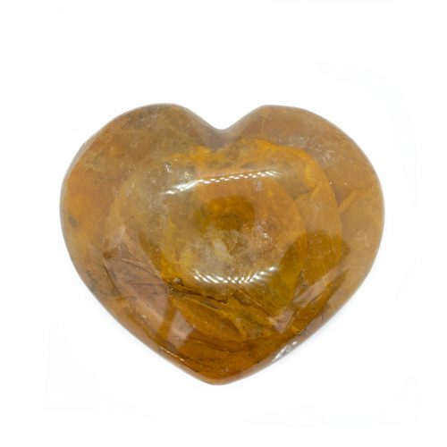 Sri Avinash Infused™ Golden Healer Crystal Heart - Love & Compassion Infusion