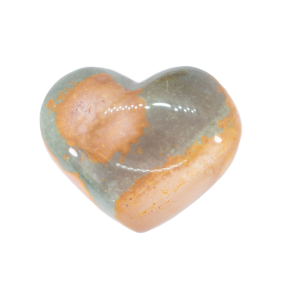 Sri Avinash Infused™ Polychrome Jasper Crystal Heart - Creative Power Infusion