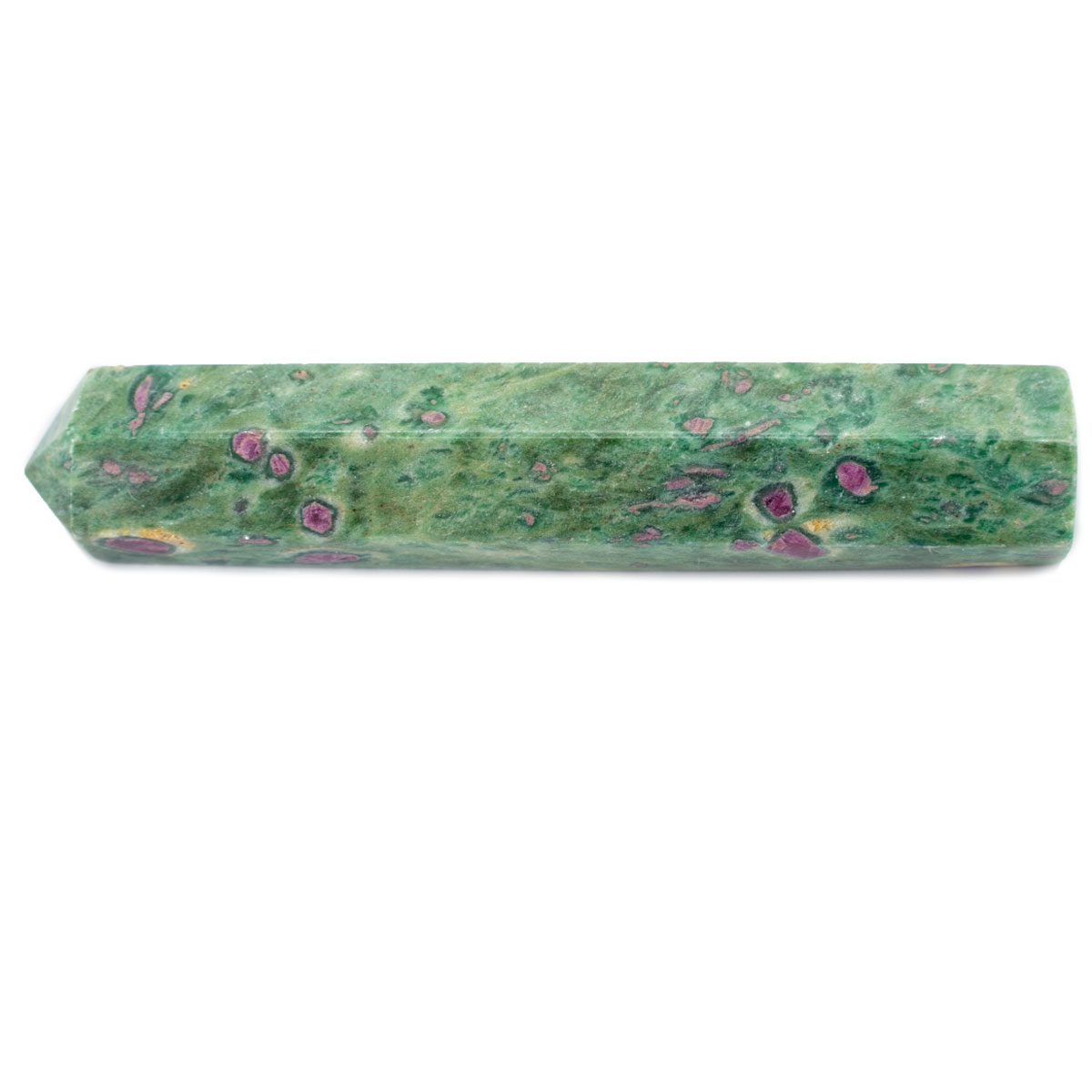 Sri Avinash Infused™ Ruby in Zoisite Single-Terminated Healing Wand - Love & Compassion Infusion