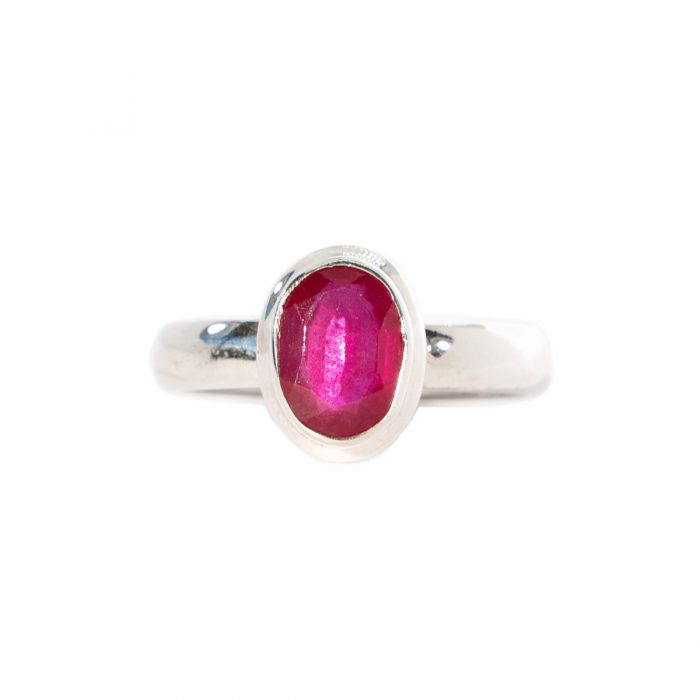 Sri Avinash Infused™ 1.96cts Ruby Ring in Sterling Silver - Lightness & Joy Infusion