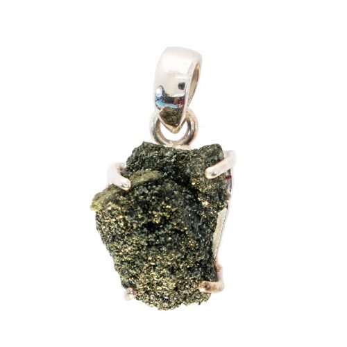 Sri Avinash Infused™ 11cts Green Seraphinite In Quartz Pendant in Sterling Silver - Divine Spirit & Protection Infusion