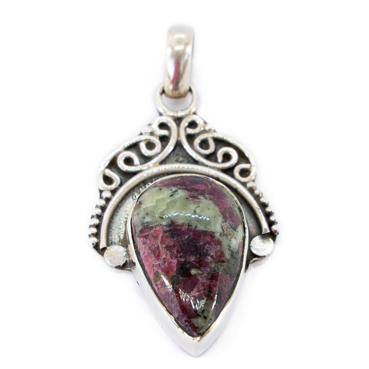 Sri Avinash Infused™ Eudialyte Pendant in Sterling Silver - Relationships & Prosperity Infusion