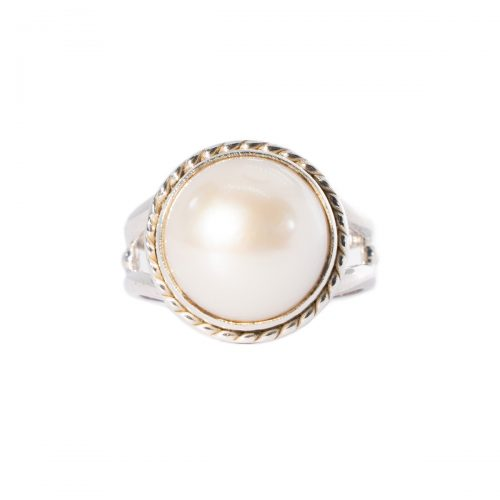 Sri Avinash Infused™ 9.6cts Full Moon Pearl Ring in Sterling Silver - Relationships & Prosperity Infusion