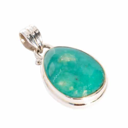 Sri Avinash Infused™ 11.2cts Peruvian Amazonite Pendant in Sterling Silver - Lightness & Joy Infusion