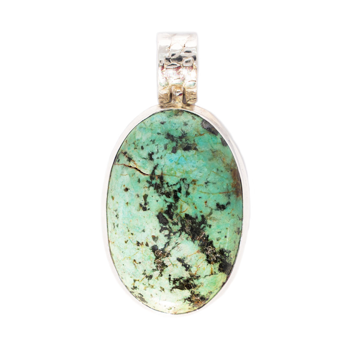 Sri Avinash Infused™ Norwegian Turquoise Pendant in Sterling Silver - Lightness & Joy Infusion