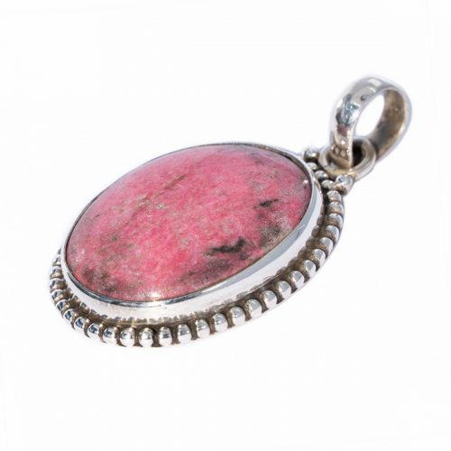 Sri Avinash Infused™ Thulite Pendant in Sterling Silver - Lightness & Joy Infusion