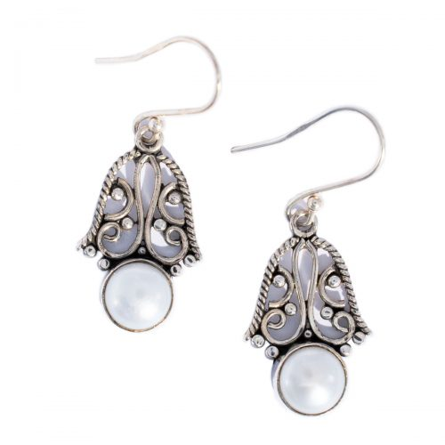 Sri Avinash Infused™ Pearl Earrings in Sterling Silver - Lightness & Joy Infusion