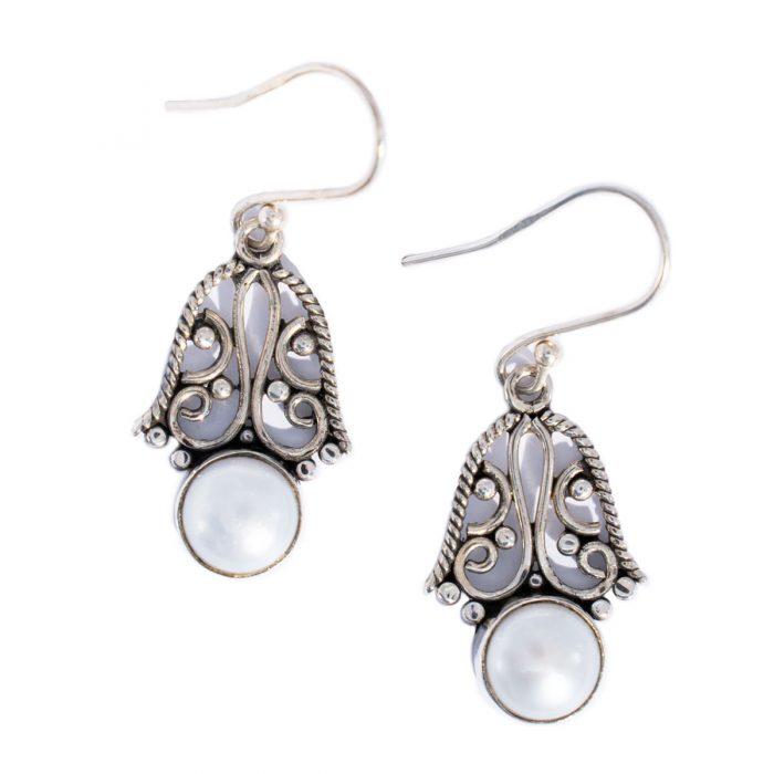 Sri Avinash Infused™ Pearl Earrings in Sterling Silver - Lightness & Joy Infusion