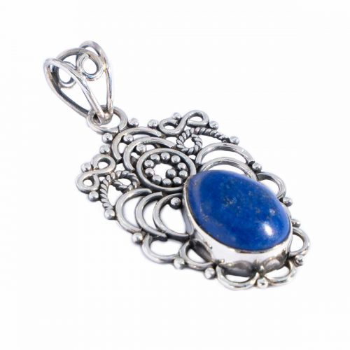 Sri Avinash Infused™ Lapis Lazuli Pendant in Sterling Silver - Love & Compassion Infusion