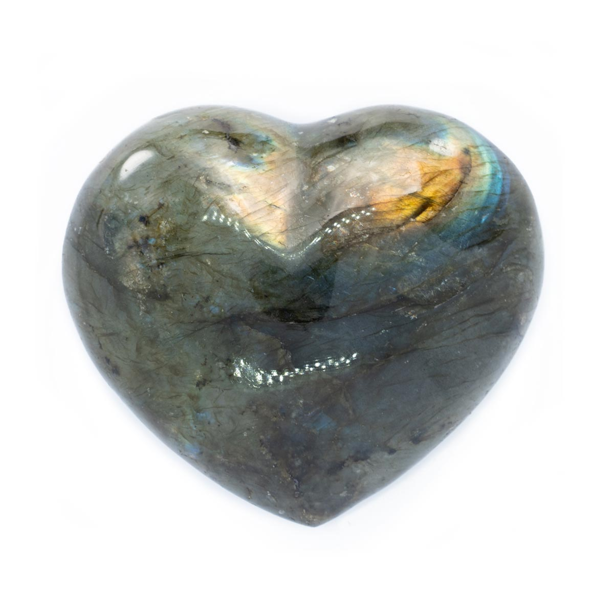 Sri Avinash Infused™ Labradorite Crystal Heart 2 - Divine Blessings Infusion