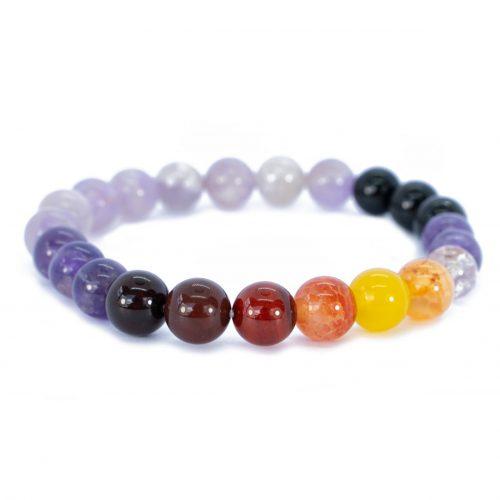 Sri Avinash Blessed™ Amethyst, Onyx & Quartz Mala Bracelet