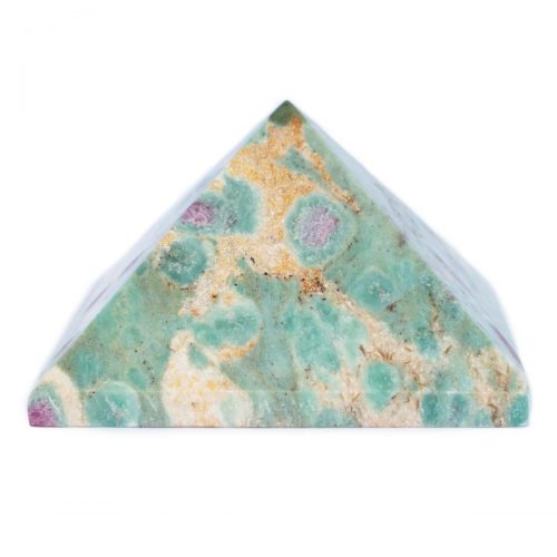 Sri Avinash Infused™ Ruby in Fuchsite Pyramid - Lightness & Joy Infusion