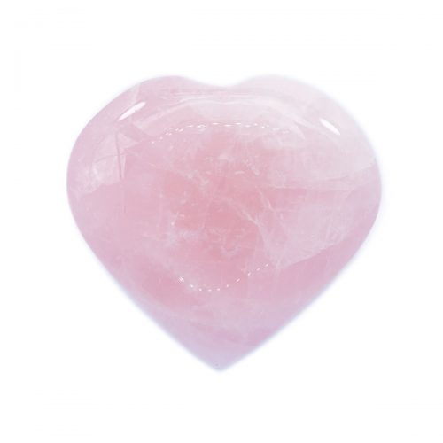 Sri Avinash Infused™ Rose Quartz Crystal Heart - Lightness & Joy Infusion