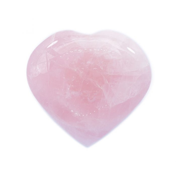 Sri Avinash Infused™ Rose Quartz Crystal Heart - Lightness & Joy Infusion