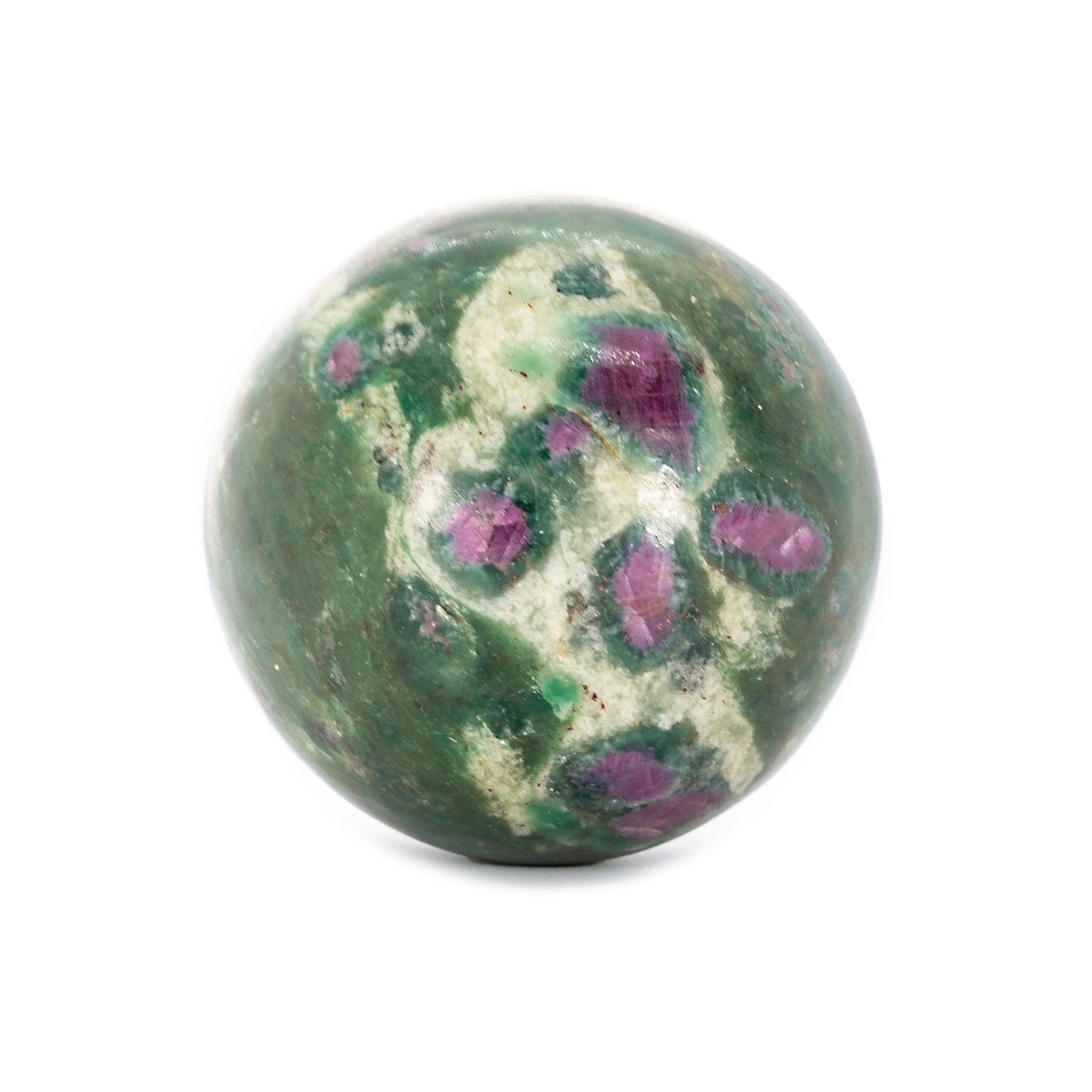 Sri Avinash Infused™ Ruby in Fuchsite Sphere - Love & Compassion Infusion