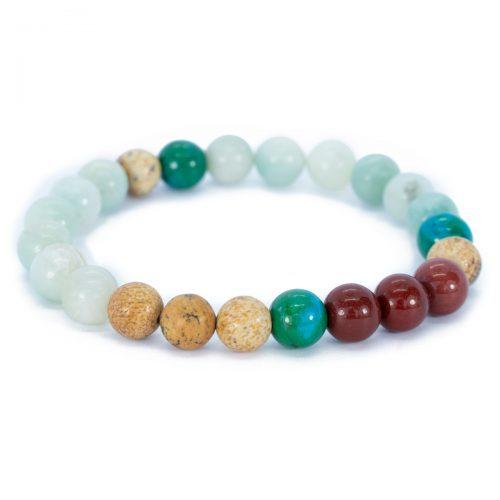 Sri Avinash Blessed™ Mookaite, Amazonite & Jasper Mala Bracelet