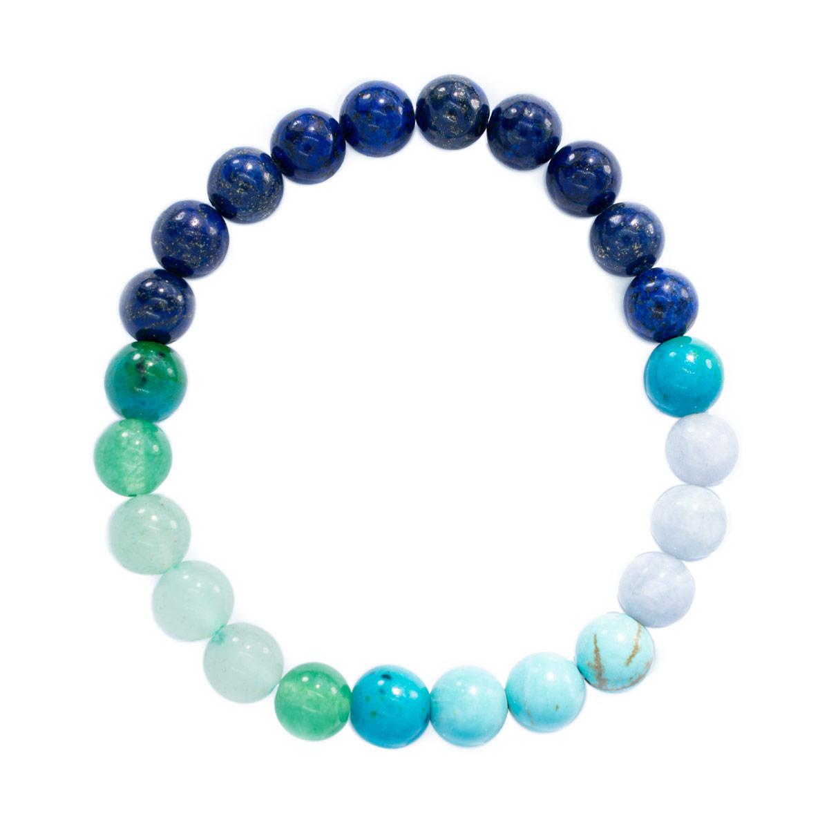 Sri Avinash Blessed™ Amazonite, Turquoise, Lapis Lazuli & Aventurine Mala Bracelet