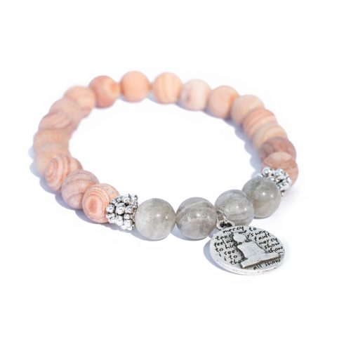 Sri Avinash Blessed™ Line Stone & Labradorite Mala Bracelet