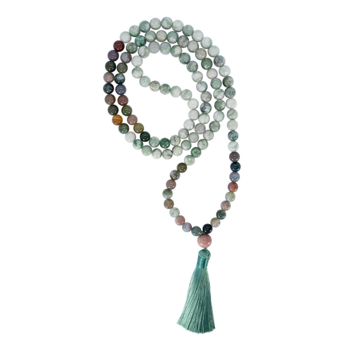 Sri Avinash Blessed™ Jasper & Agate Mala Necklace