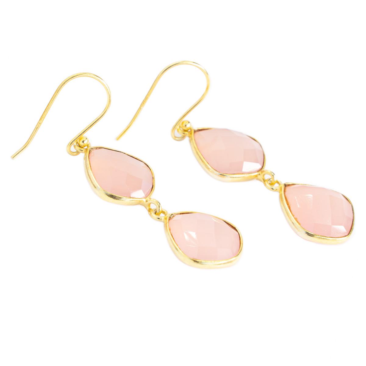 Sri Avinash Infused™ Rose Quartz Earrings - Lightness & Joy Infusion