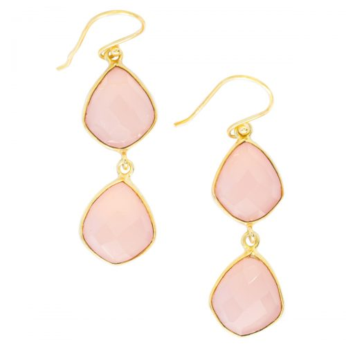 Sri Avinash Infused™ Rose Quartz Earrings - Lightness & Joy Infusion