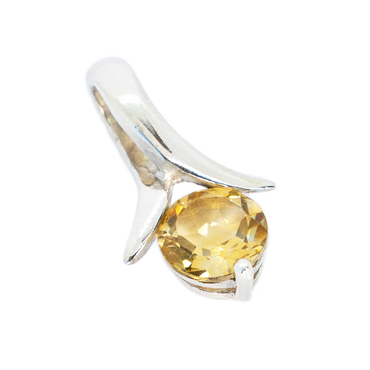 Sri Avinash Infused™ 1.1cts Citrine Pendant in Sterling Silver - Love & Compassion Infusion