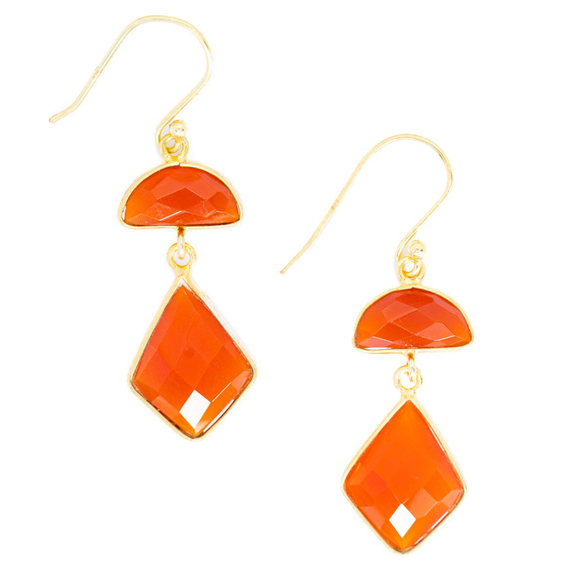 Sri Avinash Infused™ Honey Onyx Earrings - Lightness & Joy Infusion