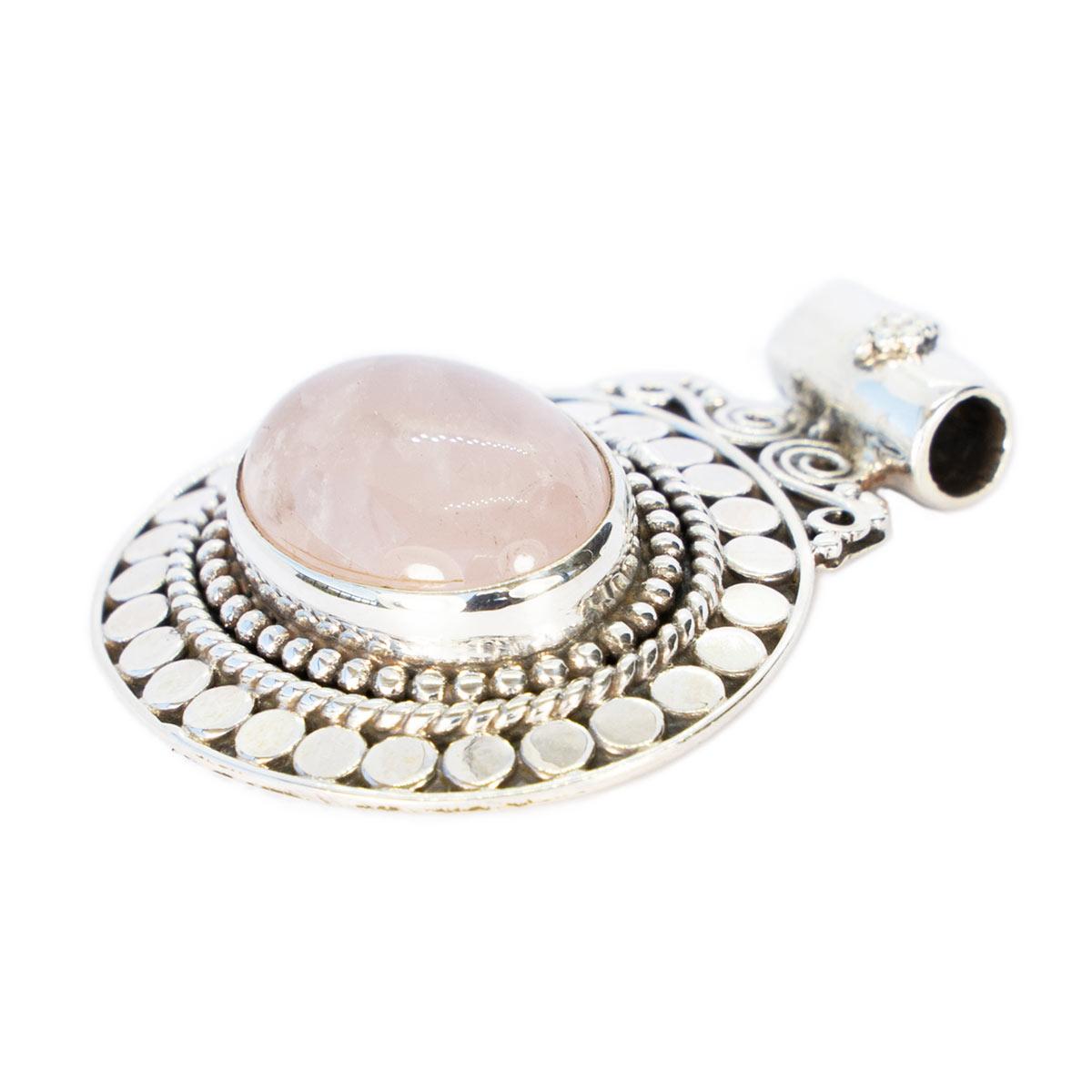Sri Avinash Infused™ Rose Quartz Pendant - Divine Blessings Infusion