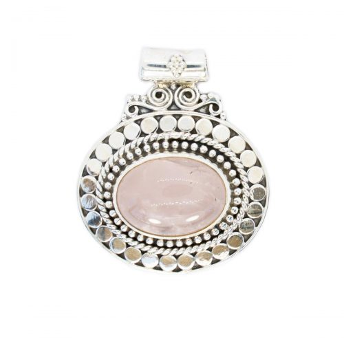 Sri Avinash Infused™ Rose Quartz Pendant - Divine Blessings Infusion